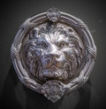 Metal lion head on the door Royalty Free Stock Image