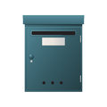 Metal mailbox over white background Stock Photography