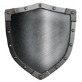 Metal medieval shield isolated Royalty Free Stock Photo