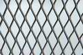 Metal mesh or aluminum grid with regular pattern