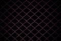 Metal Mesh Fence on black background.