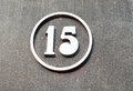 Metal number on the wall Royalty Free Stock Photo