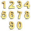 Metal numbers set Stock Photos