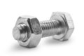 Metal nut and bolt Royalty Free Stock Images