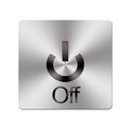 Metal Off button. Stock Image