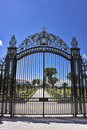 The metal openwork gate Stock Images