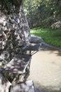 Kovové stupačky nad riekou Hornád