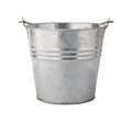 Metal pail with a clipping path isolated on white the image is in full focus front to back Royalty Free Stock Image