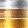 Metal panels in different materials with some fine grain in it Royalty Free Stock Image
