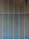 Metal panels with streaks of brown and blue rust Royalty Free Stock Photo