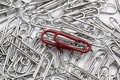 metal paperclips Royalty Free Stock Photo