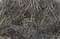 Metal Paperclips background Royalty Free Stock Photo