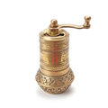 Metal pepper mill Royalty Free Stock Photo