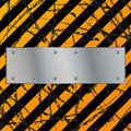 Metal plate on dirty grunge Royalty Free Stock Photo