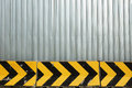 Metal plate fence and concrete barrier for background construction zone Royalty Free Stock Photo