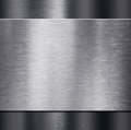 Metal plate over dark metalic background 3d illustration