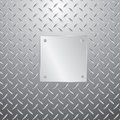 Metal plate on plate Stock Photos
