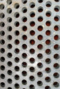 Metal Plate with Round Holes Royalty Free Stock Images