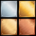 Metal plates Stock Image
