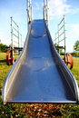 Metal playground slide Stock Photography