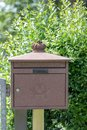 Metal Post Box in Germany in the Garden Royalty Free Stock Photo