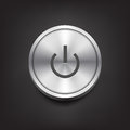 Metal Power Button Royalty Free Stock Photography