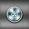 Metal power button Royalty Free Stock Photo