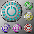 Metal power buttons Royalty Free Stock Images