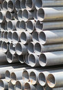 Metal profiles tube foundation for building structures steel Royalty Free Stock Image