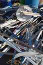 Metal recycling center in nevada a pile of scrap for construction and a united states Stock Photography