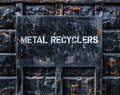 Metal Recycling Dumpster Royalty Free Stock Photo