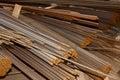 Metal reinforcement rods Stock Photo