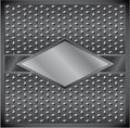 Metal rhombus frame Royalty Free Stock Images