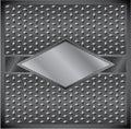 Metal rhombus frame