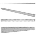 Metal ruler isolated render on a white background Stock Photos