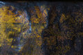 Metal rusty corroded texture background yellow grunge Stock Images
