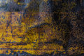Metal rusty corroded texture background yellow grunge Royalty Free Stock Photography