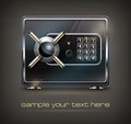 Metal safe on black text vector illustration Royalty Free Stock Photography