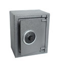 The metal safe on a white background Stock Images