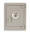 Metal safe the on a white background Royalty Free Stock Photo