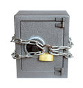 The metal safe on a white background Stock Image