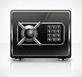 Metal safe on white vector illustration Royalty Free Stock Photos