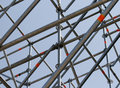 Metal scaffolding. Stock Images
