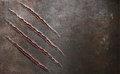 Metal scratched by beast claw marks background