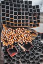 Metallurgical products Royalty Free Stock Photo