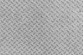 Metal seamless steel diamond plate texture pattern background Royalty Free Stock Photo