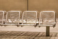 Metal Seats at Subway Station Royalty Free Stock Photo