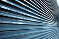 Metal security shutters in blue Royalty Free Stock Photos