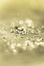 Metal shavings background the texture gold closeup Stock Image