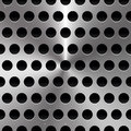 Metal sheet surface with holes perforated metal background eps vector illustration of Stock Photo